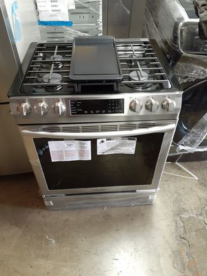 New Samsung 5 Burner Gas Slide in Stove with Convection Oven for Sale in Los Angeles, CA