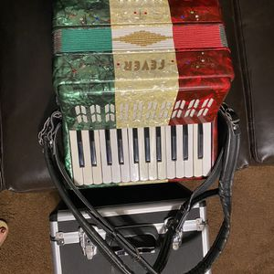 Fever Tri Colored Piano Key Accordion NEW With Case for Sale in El Monte, CA