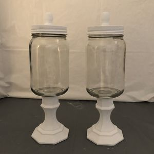 White Chalk Paint Mason Jars Set for Sale in Riverton, UT