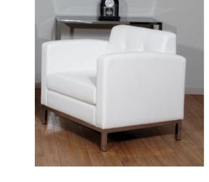 Lounge white chair for Sale in Gaithersburg, MD