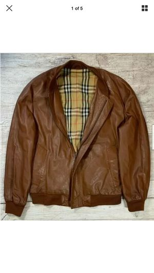 Men's Burberry Leather Jacket - sz LARGE for Sale in San Francisco, CA