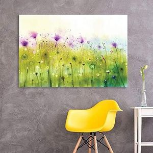 ((FREE SHIPPING)) Canvas wall art - abstract watercolor style purple flowers in spring modern home decor Painting like print for Sale in Alpine, NJ