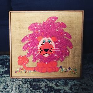 Mid century modern embroidery wall art for Sale in Long Beach, CA