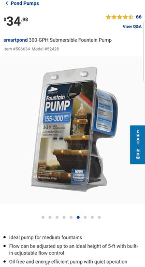Smartpond fountain pump for Sale in Lynwood, CA