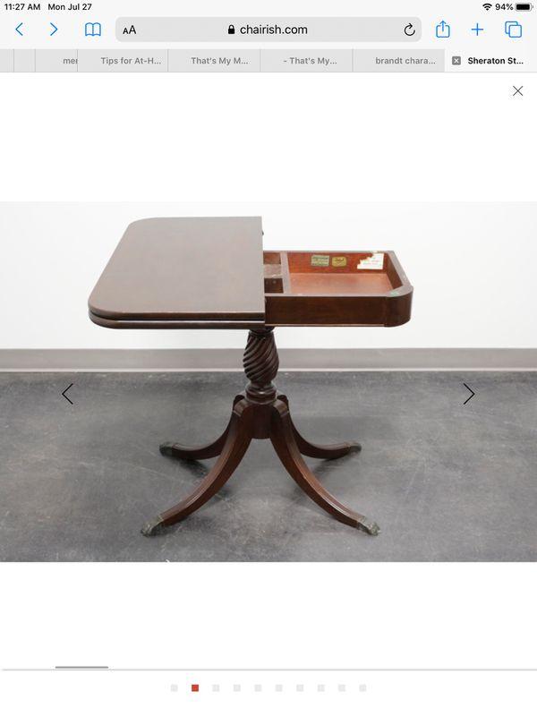 Brandt Swivel Flip-Top Game Table