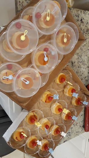 Mini vanilla flans or cheese flans for Sale in Providence, RI