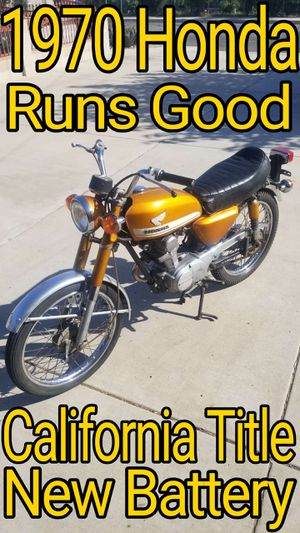 1970 Honda CB100 Motorcycle, Runs Good. for Sale in Fontana, CA