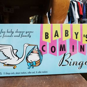 Board Game. Baby's Coming Bingo for Sale in Cypress, CA