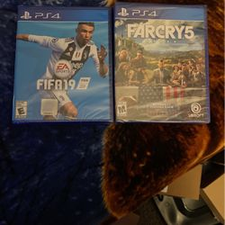 FIFA 19 -far Cry 5 Sealed Brand New for Sale in Riverside,  CA