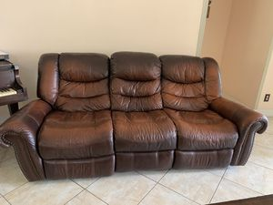 2 piece leather recliner sofa set for Sale in Port St. Lucie, FL