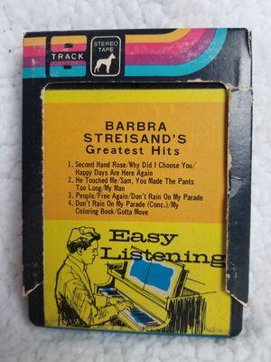 Barbra Streisand's Greatest Hits Vol 1 - 8 track for Sale in Tiverton, RI