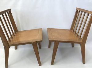 Pair Manuel Martin Modernist Chairs for Sale in New York, NY