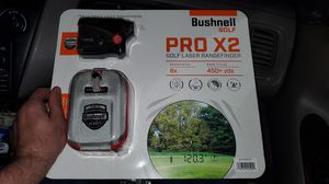 Bushnell Golf Pro Waterproof X2 Laser Range Finder With Premium Carrying Case and Six Batteries Included for Sale in Anaheim, CA
