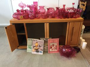 Cranberry glass collection for sale. Combination of antique and newer glass. Sell all or part. for Sale in Oro Valley, AZ