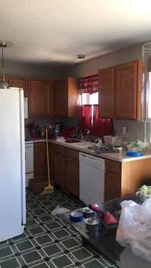 Solid oak kitchen cabinets for Sale in Saint CLR SHORES, MI