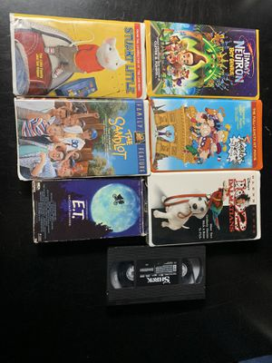 7 movies for the whole family, children's movies VHS movies for Sale in Effort, PA