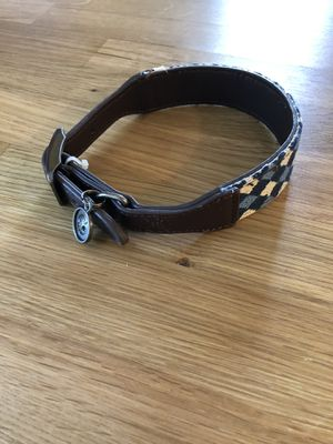 Bond & Co Brown Leather Dog Collar for Sale in Park City, UT