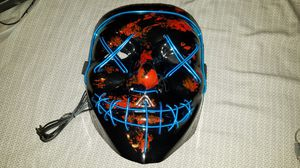 Purge Halloween mask Blue LED. for Sale in Stockton, CA