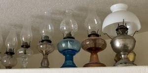 Glass Antique Oil Lamps for Sale in Poway, CA