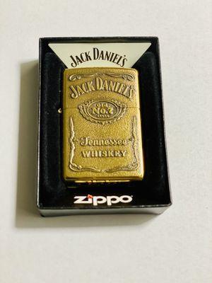 ZIPPO JACK DANIELS HIGH POLISH BRASS NEW WINDPROOF LIGHT for Sale in West Covina, CA