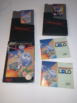 Nintendo NES lolo bundle for Sale in Stoughton, MA