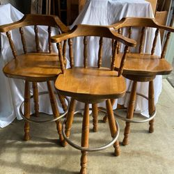 Vintage Wood Bar Stools for Sale in Lynnwood,  WA