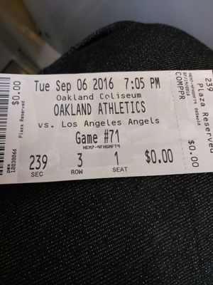 Oakland athletics vs angels for Sale in San Francisco, CA