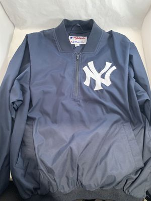 Majestic NY Yankees Men's Large Windbreaker Pullover Jacket 1/4 Zipper for Sale in Old Bridge Township, NJ