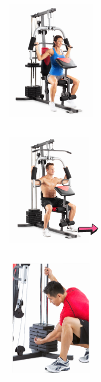 NEW Home Gym Fitness Indoor Machine Resistance High and Low Pulley System Muscle Exercise Body Workout Training Power Equipment Bowflex *↓READ↓* for Sale in Chula Vista, CA