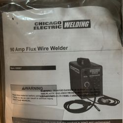 90 Amp Flux Wire Welder By Chicago Electric for Sale in Portland,  OR