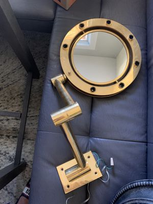 Wall mounted make up mirror for Sale in Central Islip, NY