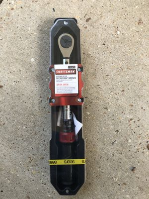 3/8-in drive micro-clicker torque wrench for Sale in Baton Rouge, LA