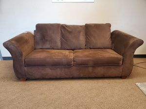 Brown Microfiber Couch with Hideabed for Sale in Denver, CO