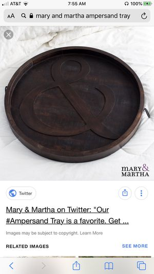 Mary and Martha Ampersand tray for Sale in Versailles, KY