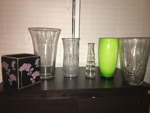 Vases - all 6 flower arrangement containers/vases $10 for Sale in Houston, TX