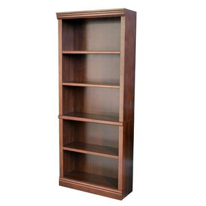 71.5 in. Dark Brown Wood 5-shelf Standard Bookcase with Adjustable Shelves for Sale in Houston, TX