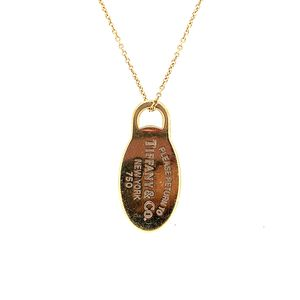 18k Tiffany and Co Dog Tag Necklace for Sale in Alexandria, VA