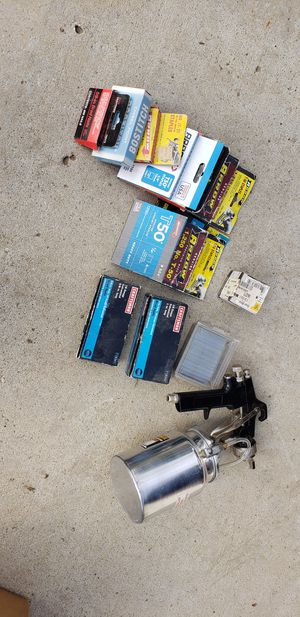Hardware staples nails bostitch chraftman and paint gun for Sale in Bakersfield, CA