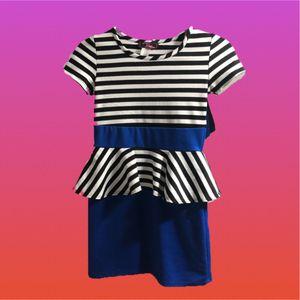 Girl Dress Black White Stripe Mid Casual Attire for Sale in Miami, FL