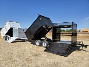 77x16 dump trailer landscape trailer for Sale in Litchfield Park, AZ