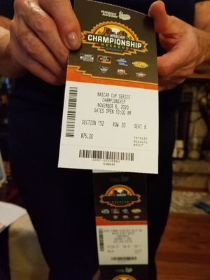 Nascar Championship Race Season Tickets Phoenix 2020 for Sale in Covina, CA