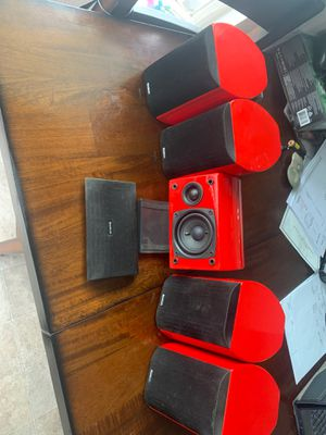 Audio pro bravo all room sat speakers 5 total home theater for Sale in Placentia, CA