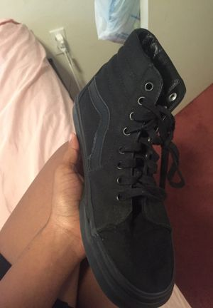 Black vans off the wall size 8.5 for Sale in Aurora, CO