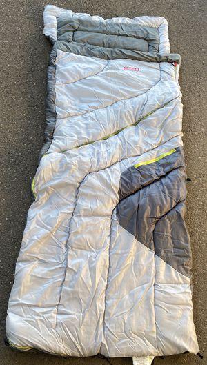 Coleman Adjustable Comfort Sleeping Bag (Gray, Lime, Tan) for Sale in San Diego, CA