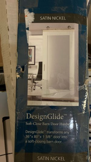 """JW design glide 36""""x80""""x1 3/8"""" door into a soft closing barn door for Sale in Tacoma, WA"""