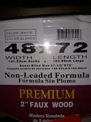 White wood blind 48 by 72 new $35 for Sale in Houston, TX