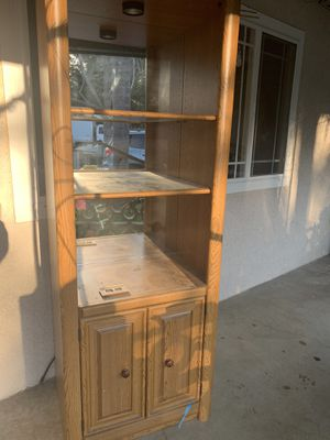 Mirrored shelving unit with drawers for Sale in Ontario, CA