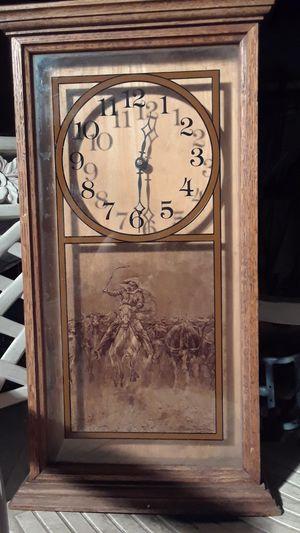 Frederic Remington clock wood for Sale in Lodi, CA