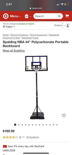 Basketball hoop for Sale in Lakeside, CA