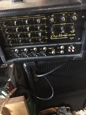 Dean Markley 4 channel PA system with speakers great sound for Sale in Sandy Hook, CT